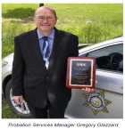 For his work in youth foster care within the Probation Department and his many other achievements, Gregory Glazzard this year was awarded the Child Abuse Prevention Council (CAPC) Award.